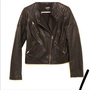 Topshop leather jacket, cool shoulder detail